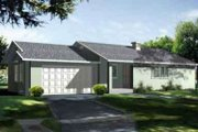 Ranch Style House Plan - 3 Beds 2 Baths 1265 Sq/Ft Plan #1-1072 Exterior - Front Elevation