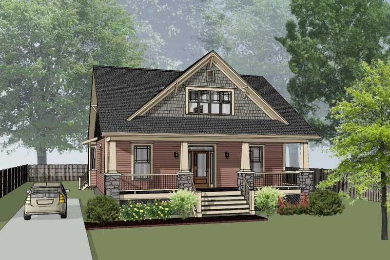 Architectural House Design - Craftsman Exterior - Front Elevation Plan #79-264