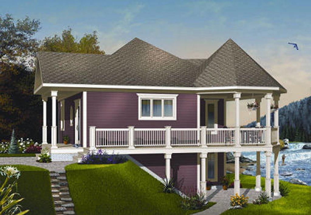 Cottage Style House Plan 1 Beds 1 Baths 840 Sq Ft Plan