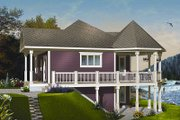 Cottage Style House Plan - 1 Beds 1 Baths 840 Sq/Ft Plan #23-847 Exterior - Front Elevation
