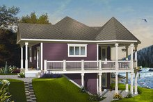 House Plan Design - Cottage Exterior - Front Elevation Plan #23-847