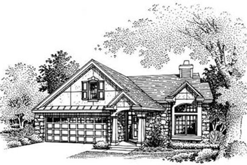 Traditional Style House Plan - 3 Beds 2.5 Baths 1700 Sq/Ft Plan #50-194 Exterior - Other Elevation