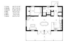 Cabin Floor Plan - Main Floor Plan Plan #497-14