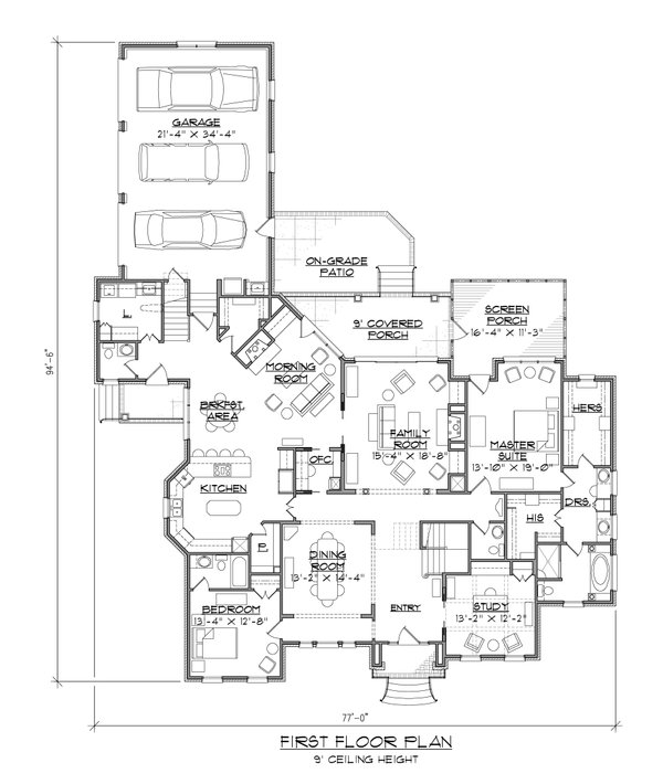 Home Plan - Traditional Floor Plan - Main Floor Plan #1054-59
