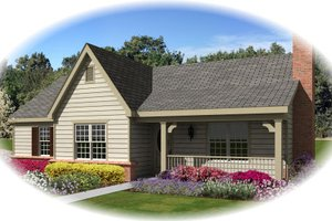 Ranch Exterior - Front Elevation Plan #81-13866