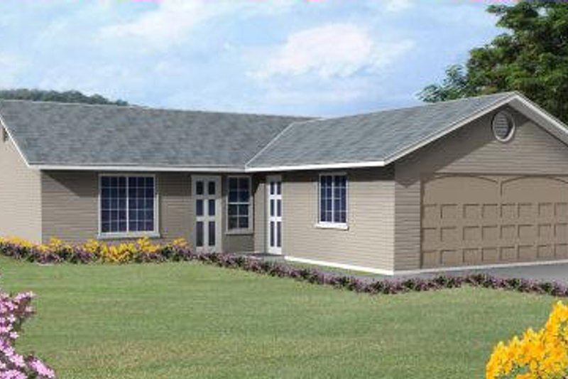 Ranch Style House Plan - 3 Beds 2 Baths 1040 Sq/Ft Plan #1-149