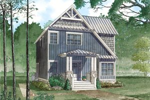 Craftsman Exterior - Front Elevation Plan #923-81