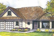 Mediterranean Exterior - Front Elevation Plan #124-449