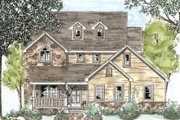 Country Style House Plan - 3 Beds 2.5 Baths 1847 Sq/Ft Plan #20-1272 Exterior - Front Elevation