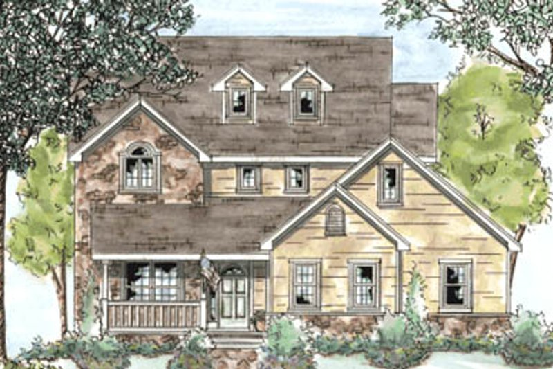 Country Exterior - Front Elevation Plan #20-1272 - Houseplans.com