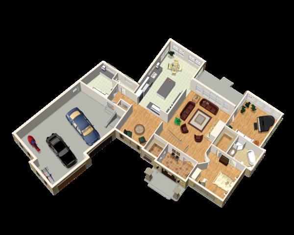 Traditional Floor Plan - Main Floor Plan Plan #25-4736