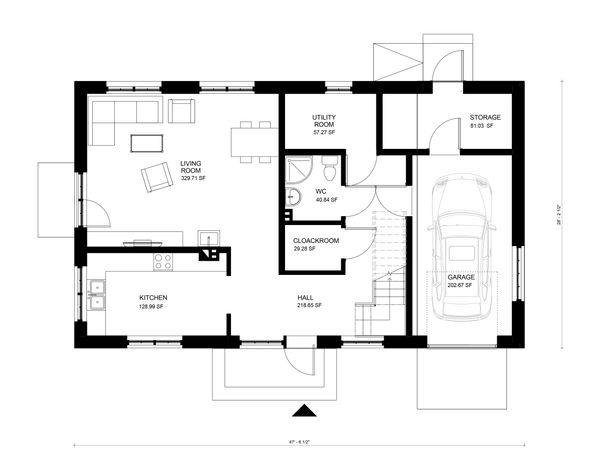 Modern Floor Plan - Main Floor Plan Plan #906-29