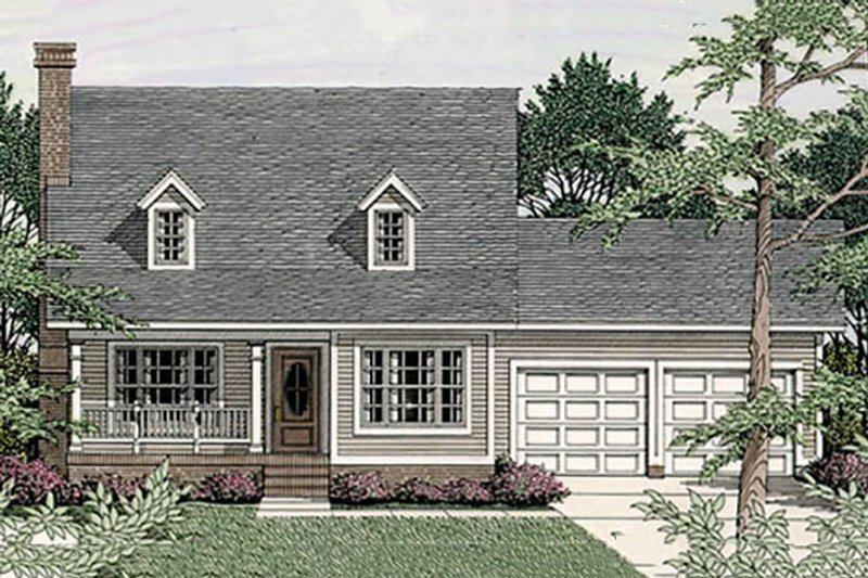 Country Exterior - Front Elevation Plan #406-228