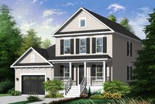 Dream House Plan - Country Exterior - Front Elevation Plan #23-2258