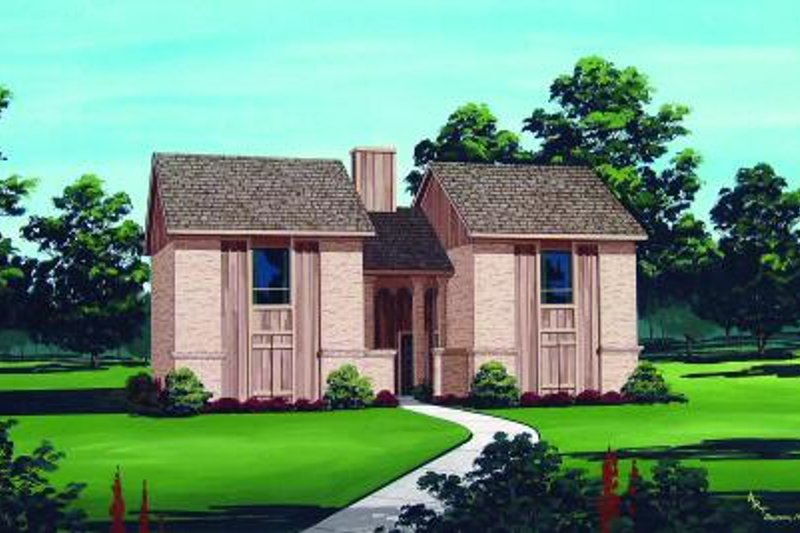Traditional Style House Plan - 2 Beds 1.5 Baths 2304 Sq/Ft Plan #45-294 Exterior - Front Elevation