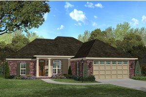 Traditional Exterior - Front Elevation Plan #430-26