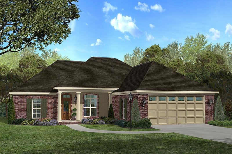 Traditional Style House Plan - 3 Beds 2 Baths 1700 Sq/Ft Plan #430-26 Exterior - Front Elevation