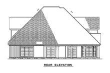 House Plan Design - Craftsman Exterior - Rear Elevation Plan #17-2135