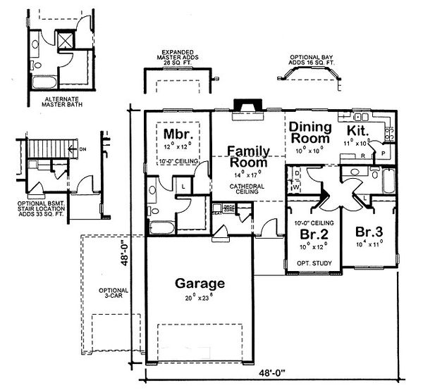 Traditional Floor Plan - Main Floor Plan Plan #20-2091