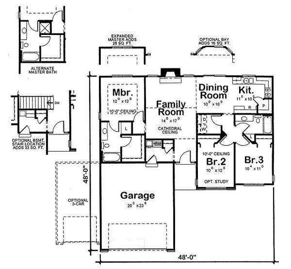 Traditional Floor Plan - Main Floor Plan Plan #20-2091