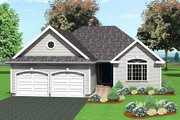 Traditional Style House Plan - 3 Beds 2 Baths 1697 Sq/Ft Plan #75-186 Exterior - Front Elevation