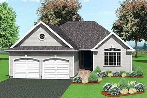 Traditional Exterior - Front Elevation Plan #75-186