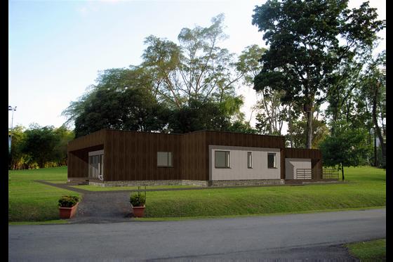 Modern Exterior - Front Elevation Plan #549-15