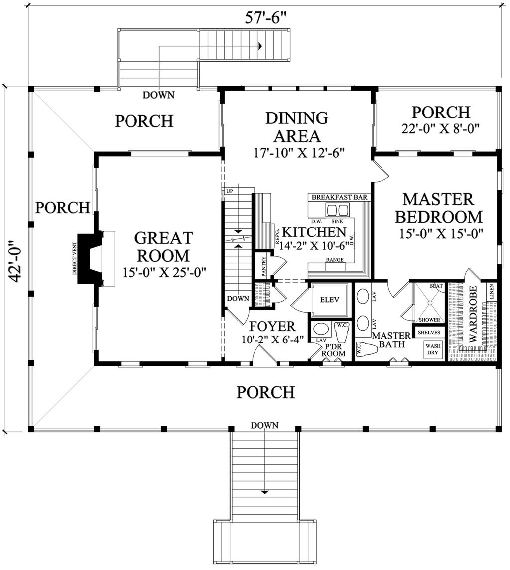 Southern style house plan 3 beds 2 5 baths 2282 sq ft for Southern style floor plans