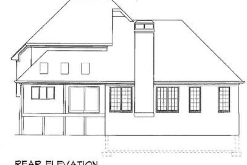 European Exterior - Rear Elevation Plan #41-147 - Houseplans.com