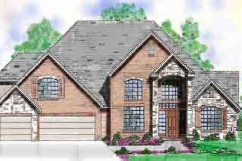 European Exterior - Front Elevation Plan #52-168 - Houseplans.com