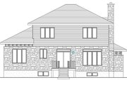 Modern Style House Plan - 3 Beds 1.5 Baths 2072 Sq/Ft Plan #138-356 Exterior - Rear Elevation