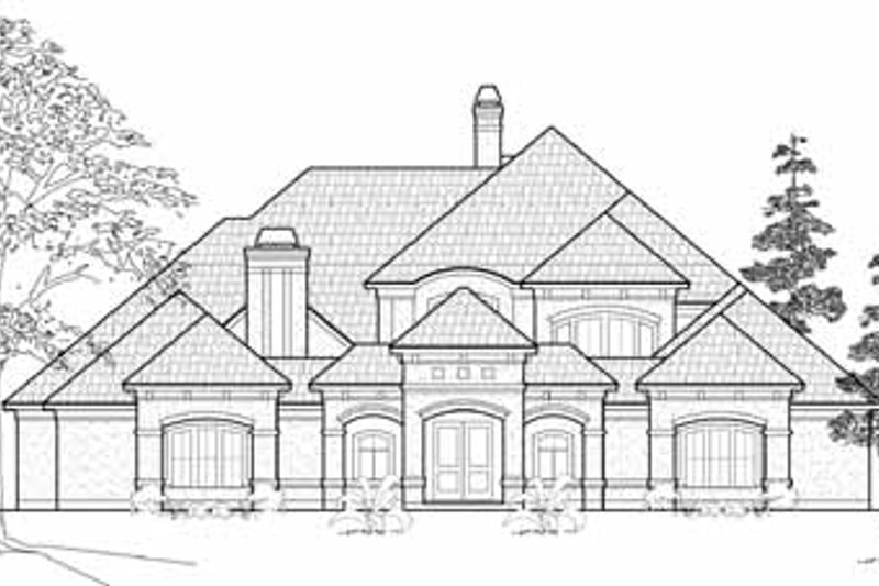 Mediterranean Exterior - Front Elevation Plan #61-184