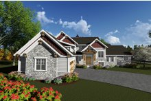Dream House Plan - Craftsman Exterior - Front Elevation Plan #70-1292