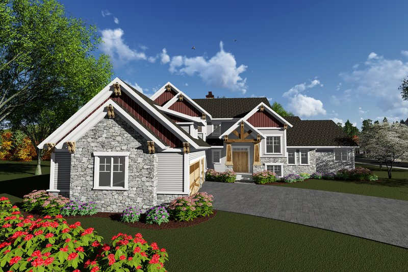 Craftsman Exterior - Front Elevation Plan #70-1292