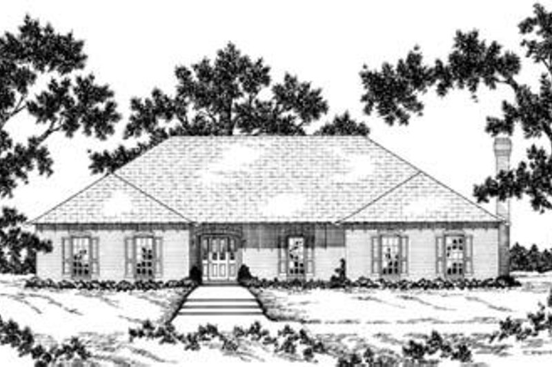 Traditional Style House Plan - 3 Beds 3.5 Baths 3109 Sq/Ft Plan #36-252 Exterior - Front Elevation