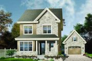 Country Style House Plan - 2 Beds 1.5 Baths 1430 Sq/Ft Plan #23-552 Exterior - Front Elevation
