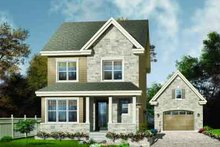 House Design - Country Exterior - Front Elevation Plan #23-552