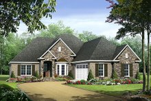 Home Plan - European Exterior - Front Elevation Plan #21-239