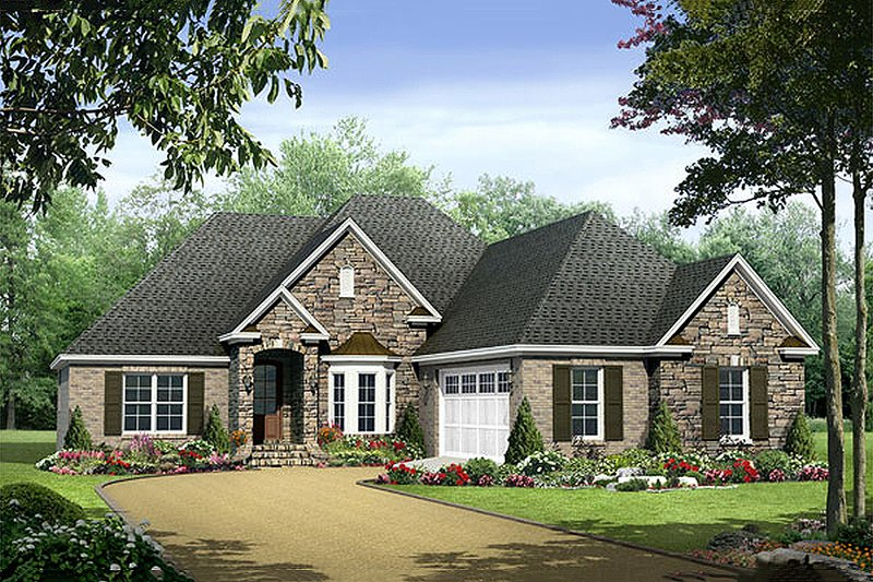 Home Plan - European Exterior - Front Elevation Plan #21-239