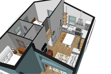 Contemporary Interior - Kitchen Plan #542-14