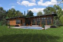 Contemporary Exterior - Rear Elevation Plan #48-1001