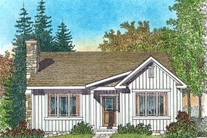 Cottage Exterior - Front Elevation Plan #22-589