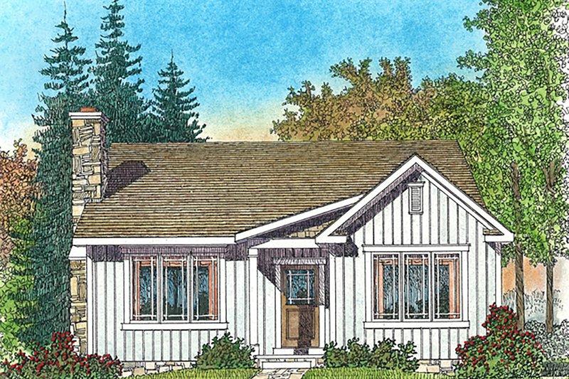 Dream House Plan - Cottage Exterior - Front Elevation Plan #22-589
