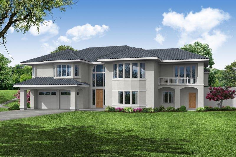 Home Plan - Adobe / Southwestern Exterior - Front Elevation Plan #124-1193