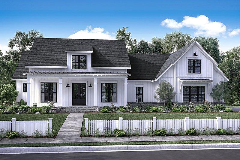 Farmhouse Exterior   Front Elevation Plan #430 156
