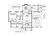 Craftsman Style House Plan - 4 Beds 3.5 Baths 2099 Sq/Ft Plan #56-712 Floor Plan - Main Floor Plan