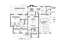Craftsman Floor Plan - Main Floor Plan Plan #56-712