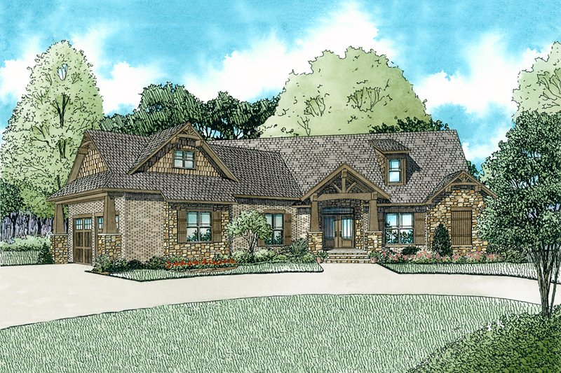 Craftsman Style House Plan - 3 Beds 2.5 Baths 2199 Sq/Ft Plan #17-2569