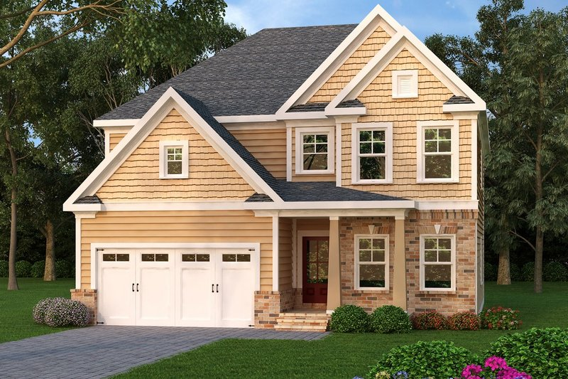 Traditional Style House Plan - 4 Beds 3 Baths 2330 Sq/Ft Plan #419-247