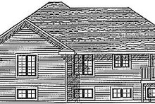 Dream House Plan - Traditional Exterior - Rear Elevation Plan #70-179